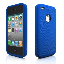 Swirling Series Silicone Case Blue for iPhone 4 (AP13-001BLU)