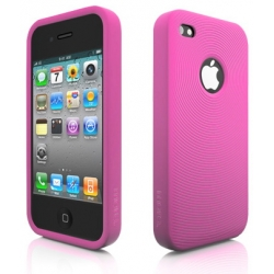 Swirling Series Silicone Case Pink for iPhone 4 (AP13-001PNK)