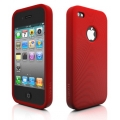 Swirling Series Silicone Case Red for iPhone 4 (AP13-001RED)