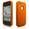 Swirling Series Silicone Case Orange for iPhone 4 (AP13-001ORN)