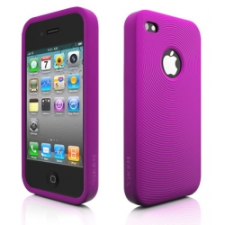 Swirling Series Silicone Case Purple for iPhone 4 (AP13-001PUR)
