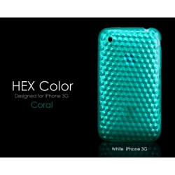 More HEX Color Collection Coral Seablue for iPhone 3G/3GS (AP05-007COR)