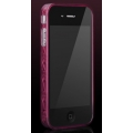 More Trinity Polymer Jelly Ring Burgundy for iPhone 4 (AP13-028BUR)