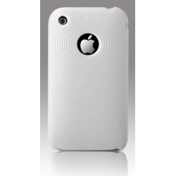 More Swirling Series Silicone Case White for iPhone 3G/3GS (AP05-001WHT)
