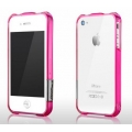 More Color Gem Lucent Jelly Ring Series Fuchsia Pink for iPhone 4, 4S (AP17-013PNK)