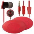 Moshi MoonRock Personal In-Ear Headphones Crimson Red for iPad, iPhone, iPod
