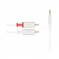 Moshi 3.5 mm to RCA Stereo Cable White 1.8M for iPad, iPhone, iPod (99MO023114)