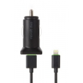 Moshi Car Charger Revolt Duo Lightning Cable Black (4.2 A) (99MO022006)