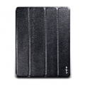 NavJack Vellum Series case for iPad 4, iPad 3, iPad 2 - Chamois Black (J012-73)