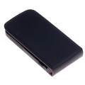 FT Leather Flip Top Case for iPhone 4, 4S - Black