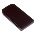 FT Leather Flip Top Case for iPhone 4, 4S - Brown