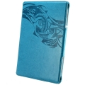 Optima Case PU Leather for iPad 4, iPad 3, iPad 2 - Motif Series - Dark Cyan (OTM-ANNE-DC)