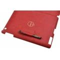 Ozaki iCoat Notebook Cross Patterns Red for iPad 2 (IC893ARD)