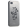 Ozaki iCoat Good Life Black/Steel Love for iPhone 4, 4S (IC862BLO)