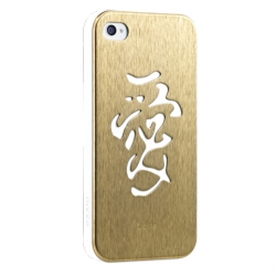 Ozaki iCoat Good Life White/Steel Love for iPhone 4, 4S (IC862WLO)