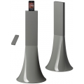 Parrot Zikmu by Starck Wireless Stereo Speakers Pearl Grey for iPhone, iPod (PF550311AC)