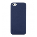 Colorant Thin Leather Shell for iPhone 5, 5S - Blue