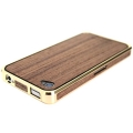 Patchworks Alloy X Wood Gold&Teak Aluminium Bumper for iPhone 4, 4S (5004)