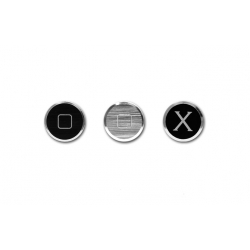 Patchworks Alloy X Home button for iPhone, iPad - Black, Silver (AHB01)