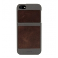 Classique Leather Case Titanium&Tan for iPhone 5, 5S (7401)