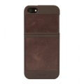 Classique Leather Case Brown&Tan for iPhone 5, 5S (7403)