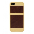 Classique Leather Case Champagne&Tan for iPhone 5, 5S (7404)