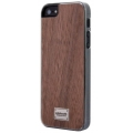 Patchworks Classique Snap-on Case for iPhone 5, 5S - Hooxan Wood Nut
