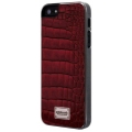 Patchworks Classique Snap-on Case for iPhone 5, 5S - Leather Croco Burgundy