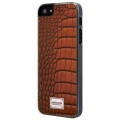 Patchworks Classique Snap-on Case for iPhone 5, 5S - Leather Croco Tan