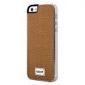Patchworks Classique Snap-on Case for iPhone 5, 5S - Leather Lizard Tan