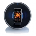 Philips Rock-n-Roll Speaker Dock for iPhone&iPod, Black/Silver (SBD7000/10)