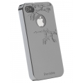 Reflekt Pro-tekto Forbidden Fruit Case Gun Metal for iPhone 4 (PT1303)