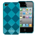 Puro Rhomby Cover Green for iPhone 4 (IPC4RHOMBYGRN)