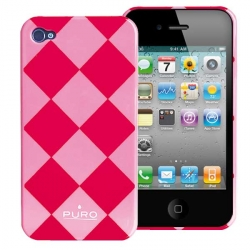 Puro Rhomby Cover Pink for iPhone 4 (IPC4RHOMBYPNK)
