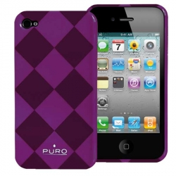 Puro Rhomby Cover Violet for iPhone 4 (IPC4RHOMBYVIO)