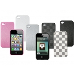 Puro Eco-leather Cover White Chess for iPhone 4 (IPC4DAMAWHI)