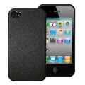 Puro Eco-leather Cover Black for iPhone 4 (IPC4BK)