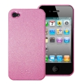 Puro Eco-leather Cover Pink for iPhone 4 (IPC4PNK)