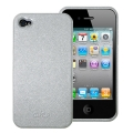 Puro Eco-leather Cover Silver for iPhone 4 (IPC4SIL)