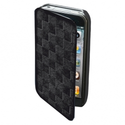 Puro Booklet Dama Case Black for iPhone 4 (IPC4BOOKDAMABLK)