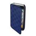 Puro Booklet Dama Case Blue for iPhone 4 (IPC4BOOKDAMABLUE)