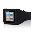 Puro Silicon Wristband Black for iPod Nano 6G (NANO6WRISTBLK)