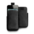 Puro Slim Essential Case Black for iPhone 4, 4S (IPC4PELLEBLK)