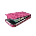 Puro iPhone 4, 4S Leopard case in eco-leather Pink (IPC4LEOPNK)