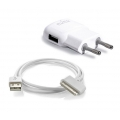 Puro Mini travel charger Apple USB with cable for iPhone/iPod (MTCUSBCAWHI)