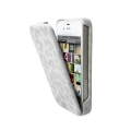 Puro iPhone 4, 4S Leopard case in eco-leather White (IPC4LEOWHI)
