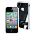 Puro iPhone 4, 4S Carrying Case Cover Clear/White (IPC4CLEARWHI)