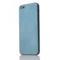Quadocta Paternium Leather Cover Skin for iPhone 5, 5S - Sky Seasnake