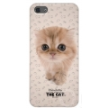 Qual THE CAT Back Cover for iPhone 5, 5S - Chinchilla (QL1110CH)