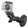RAM Mount Twist Lock Suction Cup Mount for GoPro Hero (RAM-B-166-A-GOP1U)